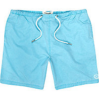 Bright blue long swim shorts