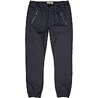 Navy coated joggers