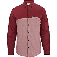 Dark red two-tone shirt