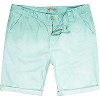Light green dip dye chino shorts