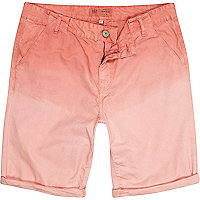 Light pink dip dye chino shorts