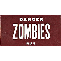 Novelty zombie chewing gum