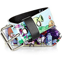 Purple zombie print belt