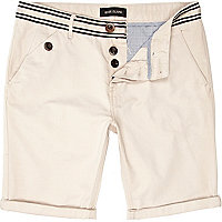 Stone striped waist chino shorts