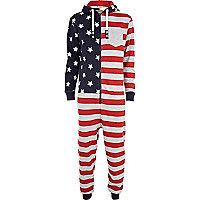 Red Tokyo Laundry flag print onesie