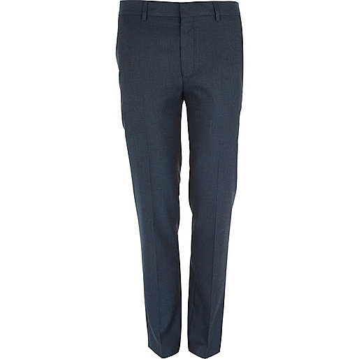 Blue skinny smart trousers
