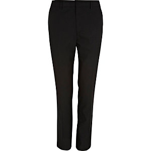 Black polka dot skinny smart trousers