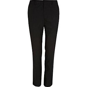 Black polka dot skinny smart pants