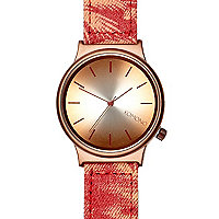Red Komono hawaiian woven watch