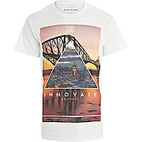 White Edinburgh print t-shirt