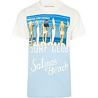 White California surf club print t-shirt