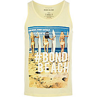 Yellow Bondi Beach photo print vest