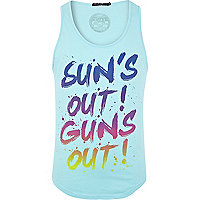 Blue Friend or Faux sun's out print vest
