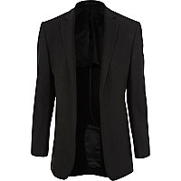 Black T. Lipop unfastened suit jacket