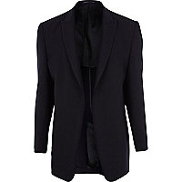 Navy T. Lipop unfastened suit jacket