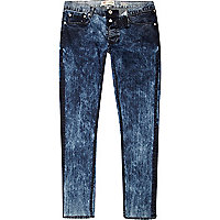 Light acid wash Sid skinny stretch jeans