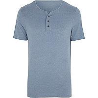 Blue marl grandad t-shirt