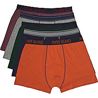 Multicoloured marl boxer shorts pack