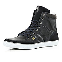 Navy warm lined smart high tops