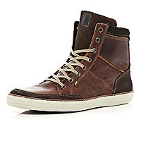 Brown warm lined smart high tops
