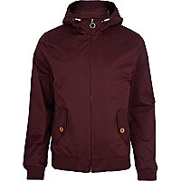 Berry hooded casual jacket