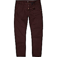 Berry red chinos
