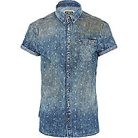 Light wash Holloway Road scissor denim shirt