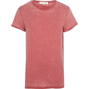 Red burnout t-shirt