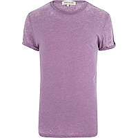 Purple burnout t-shirt