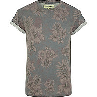 Purple floral print t-shirt