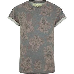 Purple floral print t-shirt