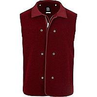 Dark red T. Lipop wool gilet