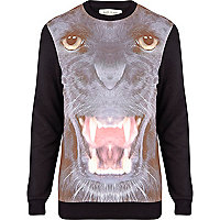 Grey panther print sweatshirt