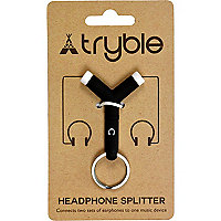 Black headphone splitter key ring