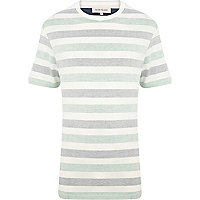 White reverse stripe t-shirt