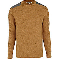 Mustard cable sleeve jumper