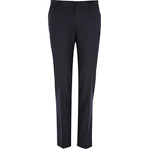 Navy slim smart trousers