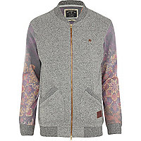 Grey Holloway Road floral bomber jacket