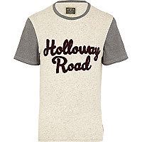 Ecru Holloway Road colour block t-shirt