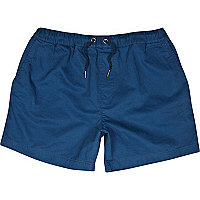 Navy drawstring waist shorts