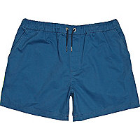 Navy side stripe shorts