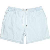 Blue bleached out shorts