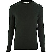 Dark green raglan sleeve jumper