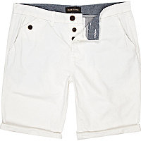 White chino short