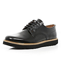 Black patent formal lace up shoes