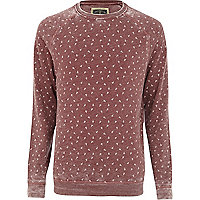 Dark red Holloway Road scissor print sweat
