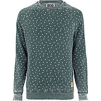 Dark green Holloway Road scissor print sweat