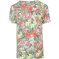 Green Ones Supply Co. Hawaiian print t-shirt