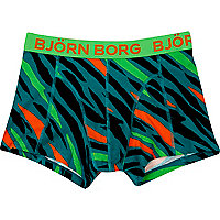 Green Bjorn Borg animal print boxer shorts