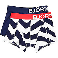 Blue chevron Bjorn Borg boxer shorts pack